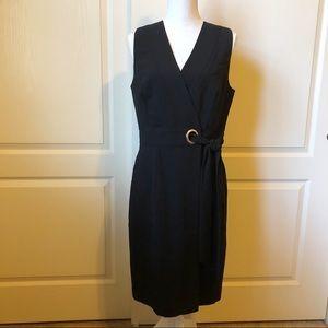 NWT H&M Faux Wrap Black Dress Size 10